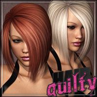 Guilty Hair 3D Figure Assets outoftouch