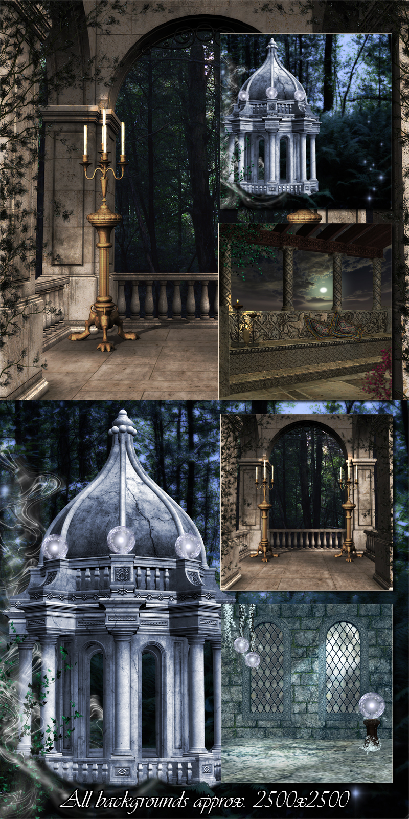 Mystical Journeys Background Set