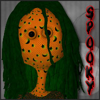 Spooky Bonga Characters Hair Themed Clothing posermagic
