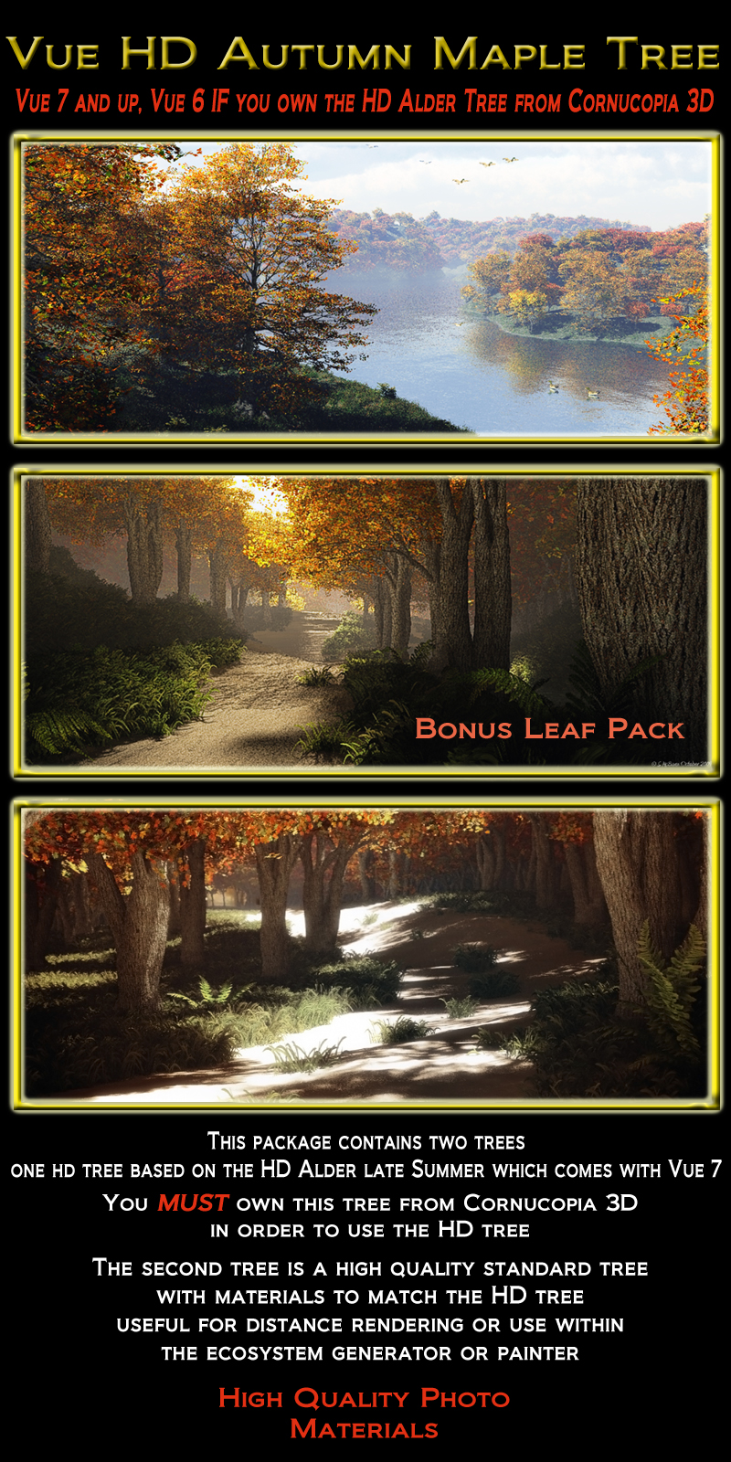 Vue HD Fall Maple Tree Pack