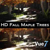 Vue HD Fall Maple Tree Pack 3D Models Scott2753