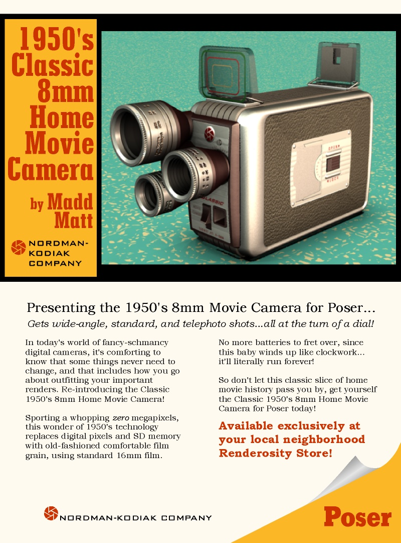 1950's Classic 8mm Home Movie Camera