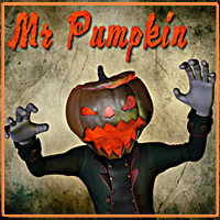 Mr Pumpkin for Gosha Themed Stand Alone Figures Clothing smay
