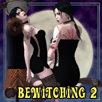 Bewitching Pinup Poses and Props 2 Poses/Expressions Themed kaleya
