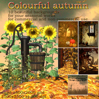 Colourful autumn 3D Models 2D Graphics capelito