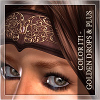 Color It! - Golden Drops & Golden Drops Plus Hair Accessories Romantic-3D