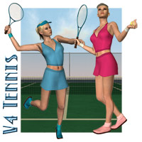 V4 Tennis Outfit & Set Themed Clothing Props/Scenes/Architecture Richabri