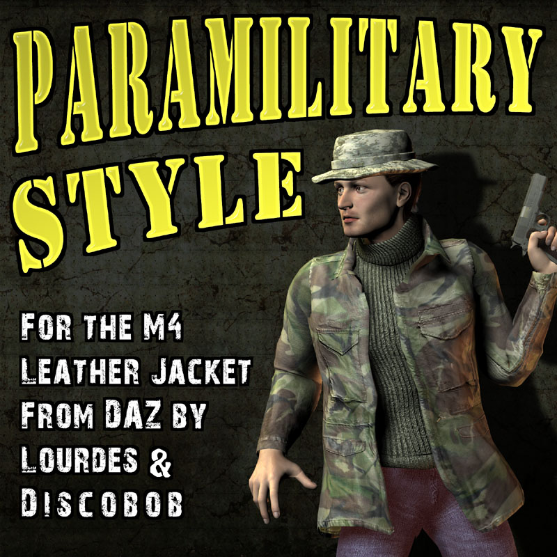 Paramilitary Style for M4 Leather jacket by DAZ/Lourdes/Discobob