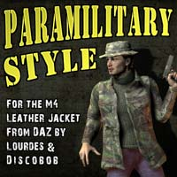 Paramilitary Style for M4 Leather jacket by DAZ/Lourdes/Discobob Themed Clothing kalebdaark