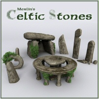 Merlin's Celtic Stones 3D Models Merlin_Studios