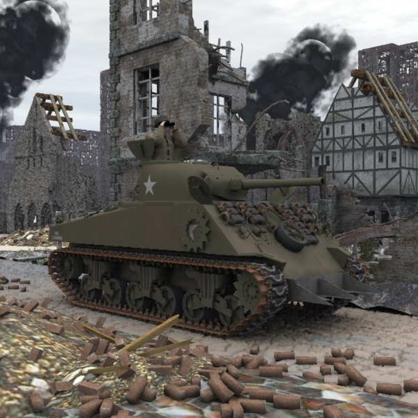 M4A3 Sherman (for Poser)
