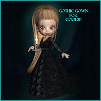 Gothic Gown For Cookie 3D Figure Essentials Porthos
