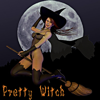 Pretty Witch for V4/A4/G4/Alice/Utopian 3D Models 3D Figure Essentials smay