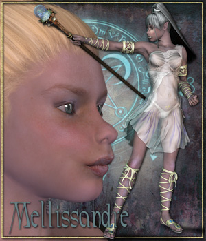 Mellissandre the fairy warrior 3D Figure Assets Tipol