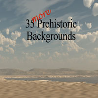 35 More Prehistoric Backgrounds 2D MNArtist