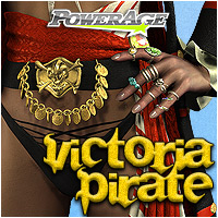Victoria Pirate 3D Figure Assets 3D Models powerage