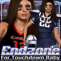 Endzone for Touchdown Baby 3D Figure Assets fratast