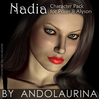 Nadia for Poser 8 Alyson 3D Figure Assets andolaurina