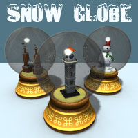 Snow Globe 3D Models Simon-3D