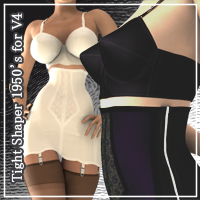Tight Shaper 1950's for V4 3D Models 3D Figure Essentials JTrout