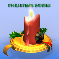 Christmas Candle  Simon-3D