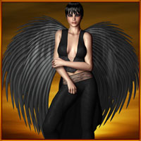 Blade Angel Wings 3D Models 3D Figure Essentials prae
