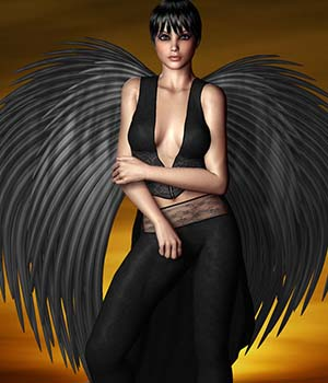 Blade Angel Wings 3D Models 3D Figure Assets prae