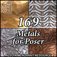 Pd-Metals Poser Materials 2D Graphics 3D Figure Assets 3D Models parrotdolphin