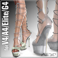 HighHeels 2 for V4.2/A4/Elite/G4 3D Figure Assets _Al3d_