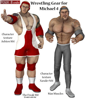 Wrestling Gear Michael 4 3D Figure Assets OKCRandy