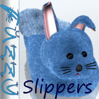 Fuzzy Slippers for SlipperAnimal  didda