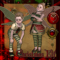 Christmas Elf 3D Figure Assets Tipol