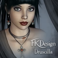 DruscillaGoth Characters Themed Accessories fabiana