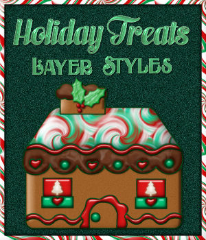 Holiday Treats Layer Styles w/Free Gift for Photoshop 7 & Above 2D Graphics fractalartist01