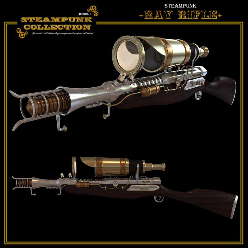 SteamPunk - Ray Rifle by jonnte