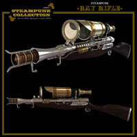 SteamPunk - Ray Rifle 3D Models jonnte