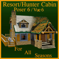 Resort/Hunters Cabin Props/Scenes/Architecture Themed Schurby