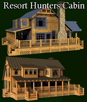 Resort Hunters Cabin (poser, vue, obj) by RPublishing
