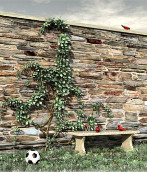Wall Vine Bundle Props/Scenes/Architecture DreamlandModels