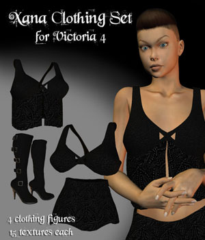 Xana Clothes - Victoria 4 3D Figure Essentials OKCRandy