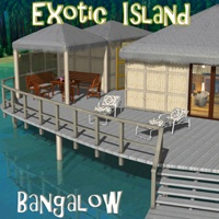 Exotic island - Bangalow Themed Props/Scenes/Architecture Poses/Expressions greenpots