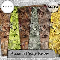 Autumn Decay Paper Pack 2D And/Or Merchant Resources 3Dillusions