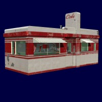 Valentine Diner 2D And/Or Merchant Resources Props/Scenes/Architecture Themed 3dCritter
