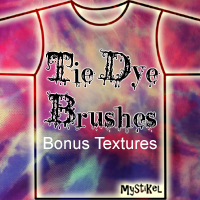 Tie Dye Brushes 2D And/Or Merchant Resources Themed mystikel