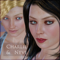 Charlie & Neve for V4.2 3D Figure Assets moonbunnie