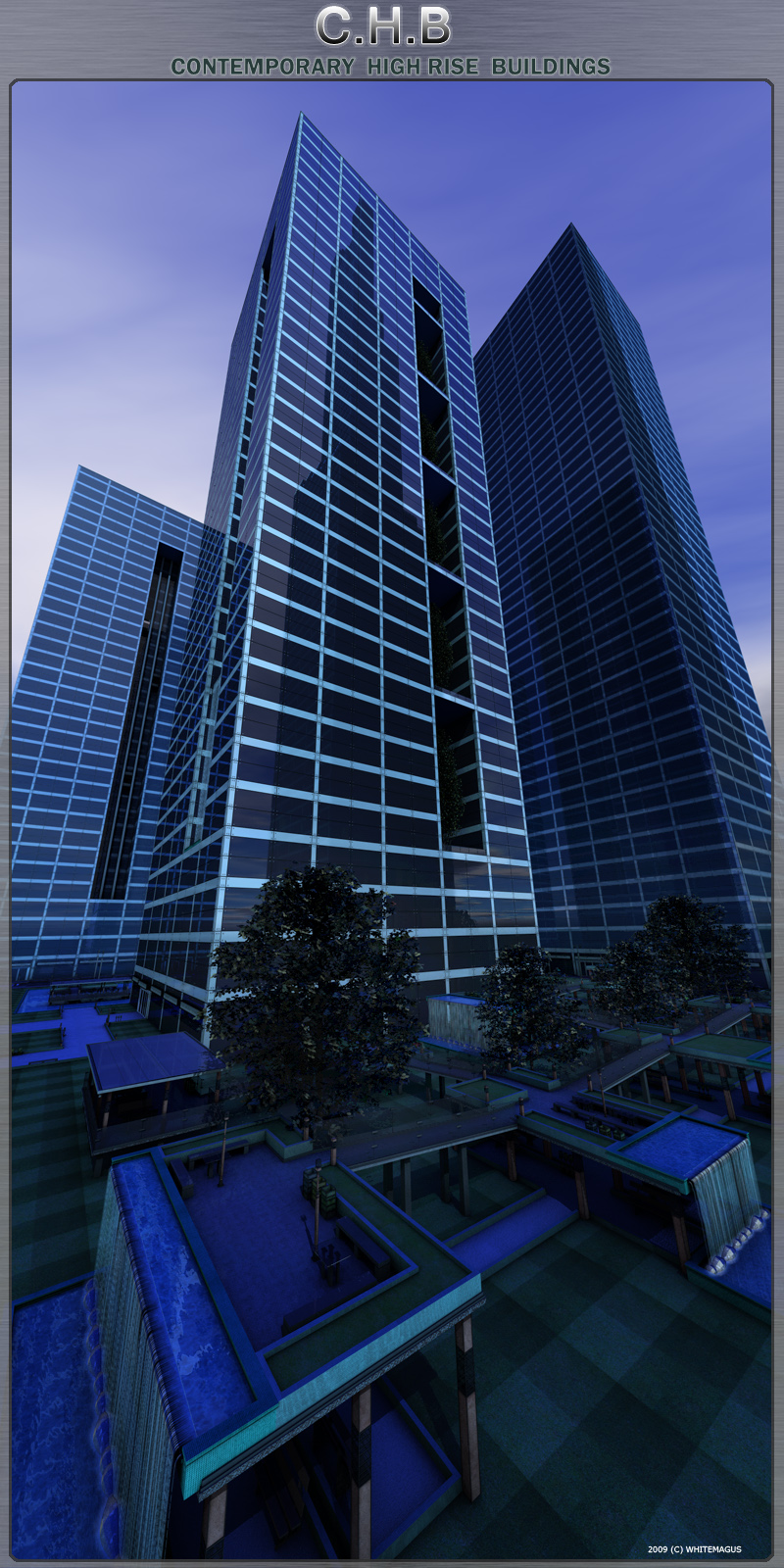 C.H.B. Contemporary  High Rise  Buildings  (Cinema4d version)