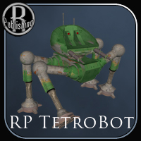 Tetrobot (Poser, OBJ & LWO) Themed Transportation Props/Scenes/Architecture RPublishing