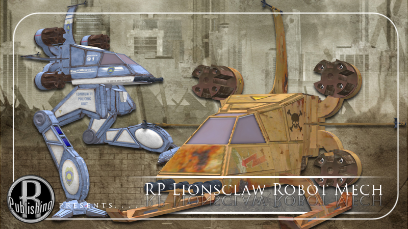 Lionsclaw Mech Robot (Poser, VUE & OBJ) by RPublishing