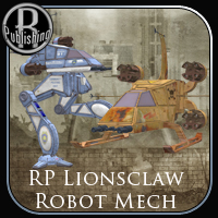 Lionsclaw Mech Robot (Poser, VUE & OBJ) Props/Scenes/Architecture Transportation Themed Stand Alone Figures RPublishing