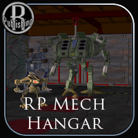 Mech Hangar (Poser & OBJ) Stand Alone Figures Themed Props/Scenes/Architecture RPublishing